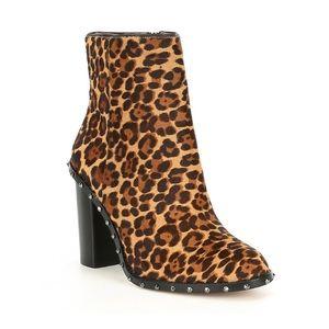 Gianni Bini Zanderson Leopard Print Studded Boot